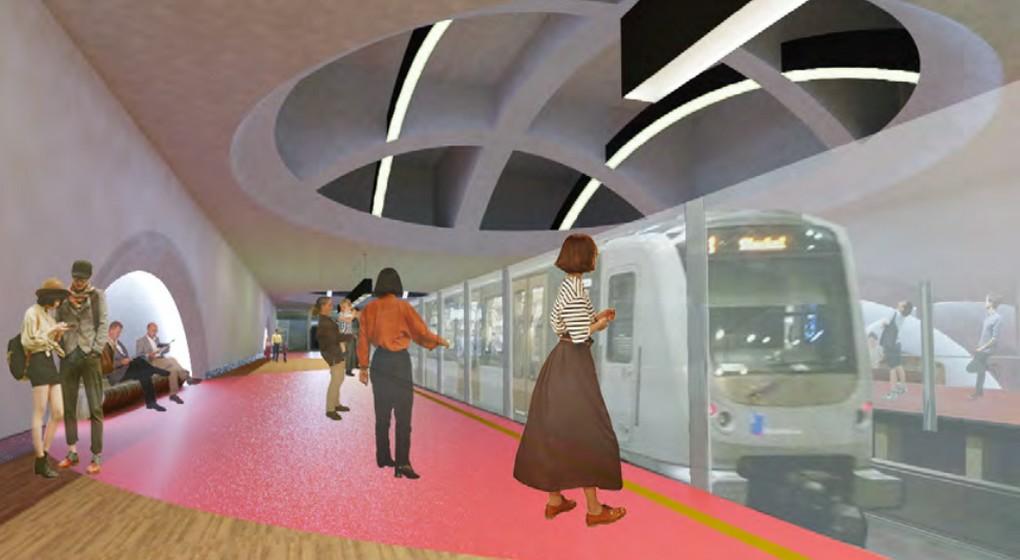Station de métro Stalingrad Toots Thielemans - Projet Stib