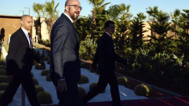 Charles Michel est arrivé à la Conférence de Marrakech