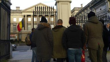Une vingtaine de migrants font une visite touristique dans le centre de Bruxelles