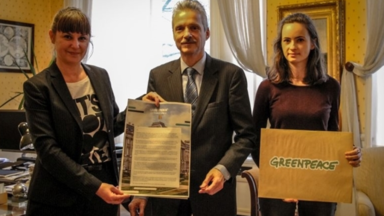 Greenpeace va chez le Roi pour le climat