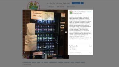 Youth For Climate: des élèves du Collège Saint-Hubert se mobilisent et débranchent leur distributeur de boissons