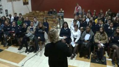 Après la manifestation de jeudi pour le climat, Fremault rencontre de jeunes lycéens