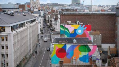Bruxelles : une nouvelle fresque murale du parcours Street Art se dévoile près de la Monnaie
