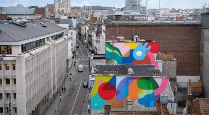 Fresque murale Oli-B Chats - Ville de Bruxelles