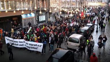 Près de 2.500 personnes ont manifesté à Bruxelles pour une vraie justice migratoire