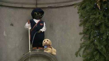"""Bruxelles : le Manneken Pis """"aveugle"""" pour la journée mondiale du braille"""
