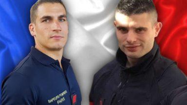 Une minute de silence des pompiers de Bruxelles en hommage à leurs collègues parisiens