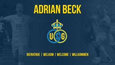 L'Union Saint-Gilloise acceuille officiellement Adrian Beck, nouveau médian du club