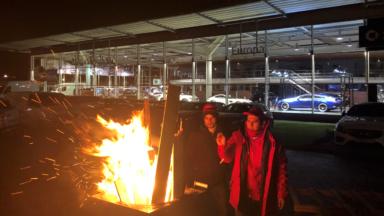 La grève chez Mercedes-Benz Europa continue à Woluwe Saint-Lambert