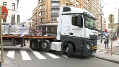 Après Bruxelles, Ixelles envisage l'interdiction des camions sur le territoire de sa commune