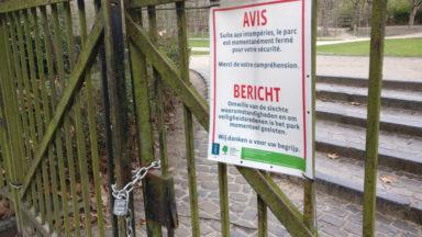 Rafales de vent : plusieurs parcs bruxellois fermés ce jeudi