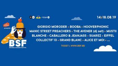 Le Brussels Summer Festival annonce de nouvelles têtes d'affiche : Giorgio Moroder, Mustii, Suarez…