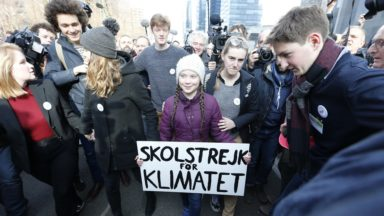 Greta Thunberg arrive à Bruxelles le 6 mars pour faire grève pour le climat