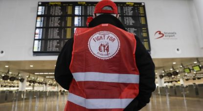 Syndicat FGTB - Brussels Airport - Grève nationale - Belga Thierry Roge