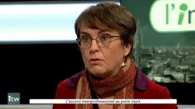 """Annick Hellebuyck (FEB) sur l'accord interprofessionel : """"De notre côté, la porte est totalement ouverte"""""""