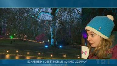 Etincelles : une nuit des lumières au coeur du parc Josaphat à Schaerbeek