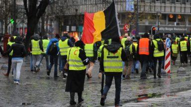 Gilets jaunes : six interpellations après la manifestation qui a réuni 250 personnes à Bruxelles