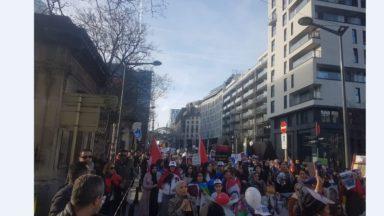 3.000 Marocains manifestent à Bruxelles pour demander la libération de prisonniers politiques au Maroc