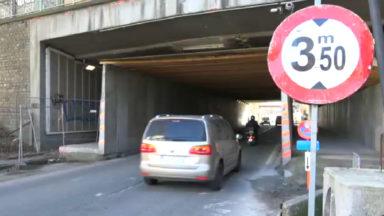 Woluwe-St-Lambert : le pont Grosjean endommagé par un camion
