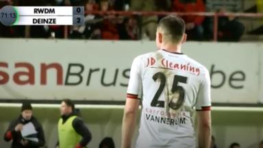 Football: le RWDM s'est incliné 0-2 face à Deinze ce samedi soir