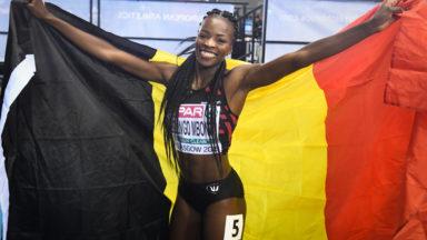 La Bruxelloise, Cynthia Bolingo, décroche la médaille d'argent aux 400 mètres lors des Championnats d'Europe d'athlétisme en salle