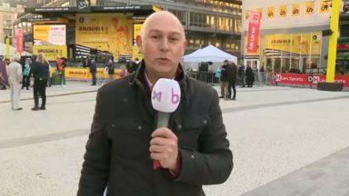 La place De Brouckère fait la fête au Tour de France à 100 jours du grand départ