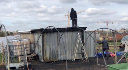 Incendie - Ferme du Chant des Cailles - Travail Bénévoles