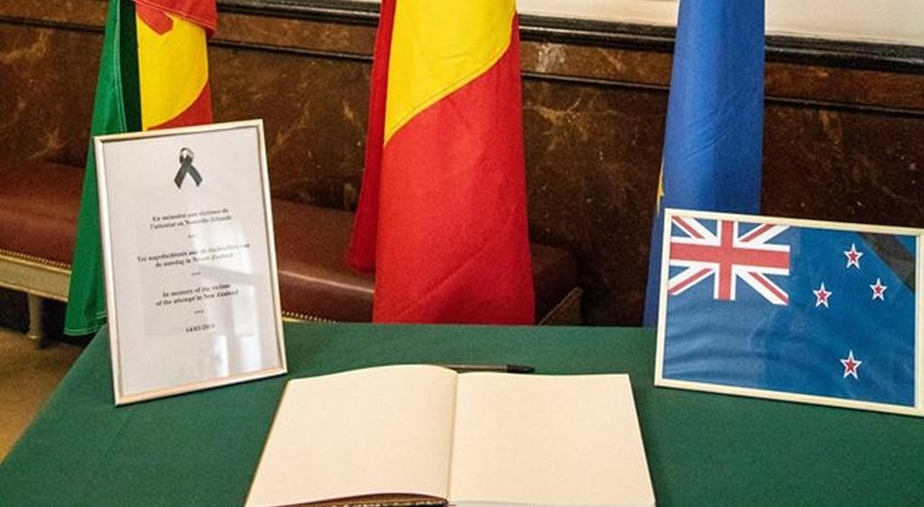 Livre de Condoléances Attentat Christchurch - Ville de Bruxelles