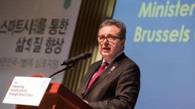 Écran interactif, drones, viaduc… : Rudi Vervoort à la pêche aux idées pour Bruxelles à Séoul