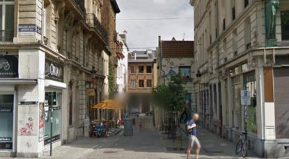 Rue du Bon Secours Bruxelles - Capture Google Street View