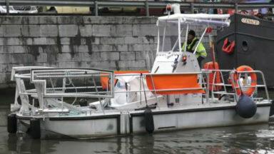 Voici Botia, le nouveau bateau nettoyeur du Port de Bruxelles