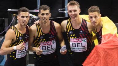 Les Belgian Tornados champions d'Europe indoor en 4X400m à Glasgow