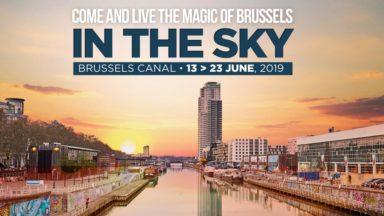 Dinner in the Sky se déroulera cette année… au-dessus du Canal de Bruxelles