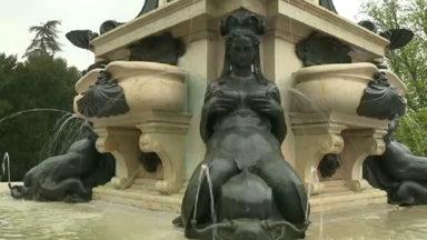 Laeken : inauguration de la fontaine Neptune, fraichement rénovée