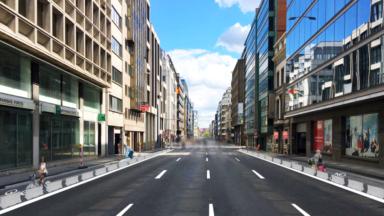 Des pistes cyclables vont être aménagées Rue Belliard