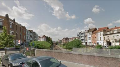 Laeken : un tronçon cyclo-piéton à proximité de l'ancienne gare