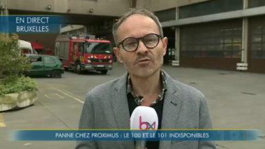 Proximus en panne : les numéros d'urgence 100, 101 et 112 indisponibles à Bruxelles