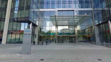Préavis de grève et action syndicale devant le siège d'Engie Electrabel à Bruxelles
