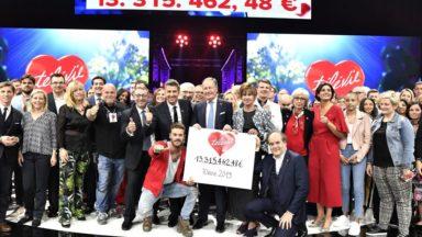 Vos dons ont permis au Télévie de récolter 13.315.462,48 euros pour la recherche contre le cancer et la leucémie