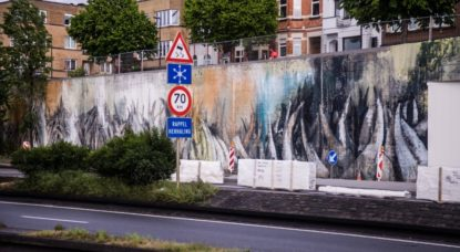 Fresque Bonom - Tunnels Reyers - Pascal Smet