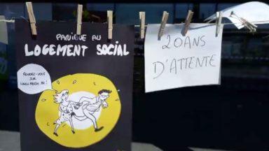 Molenbeek : mobilisation devant la gare de l'Ouest pour la création de logements sociaux