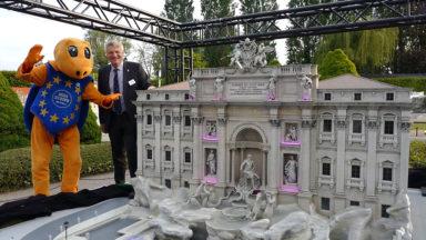 Mini-Europe fête ses 30 ans et inaugure la fontaine de Trevi