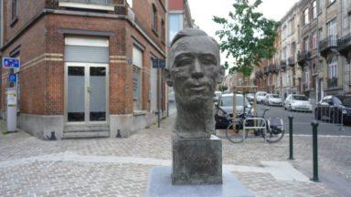 Inauguration d'un buste d'Hergé dans son quartier d'enfance, place de Theux, à Etterbeek
