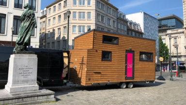 Élections 2019 : la caravane passive de BX1 fait halte place Saint-Jean à Bruxelles