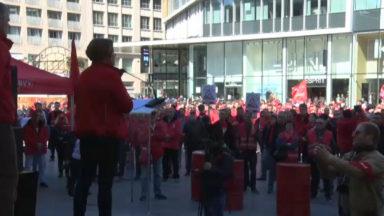 Action FGTB: plusieurs centaines de manifestants à Bruxelles