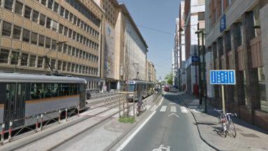 Saint-Gilles: un tram entre en collision avec une camionnette