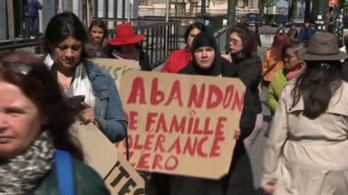 Pensions alimentaires non payées : des mères en colère manifestent devant le palais de justice