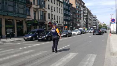Un homme a été renversé ce matin place Rogier : sa vie est en danger
