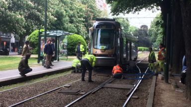 Un tram a déraillé à proximité de l'arrêt Legrand
