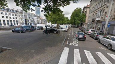 Un cycliste renversé par un combi de police boulevard du Midi : les jours de la victime ne sont plus en danger